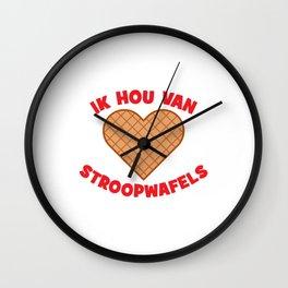 Ik Hou Van Stroopwafels Wall Clock