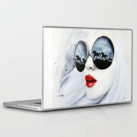 horses Laptop & iPad Skins featuring Wild Horses by anna hammer