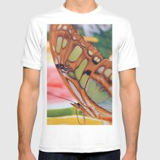 Golden Butterfly MEDIUM White Mens Fitted Tee