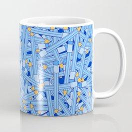 Bedtime Stories BLUE / Cartoon pencil pattern Coffee Mug