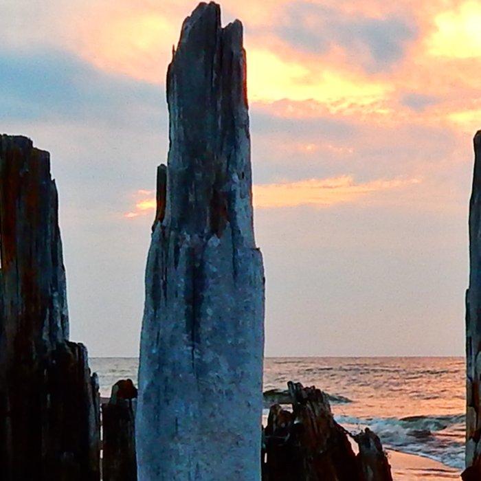 Pillars of the Past at Dusk Leggings