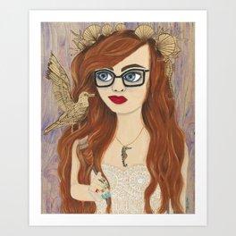 Hipster Ariel Art Print