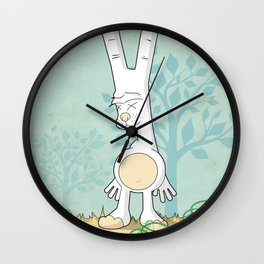 Obscene Gesture Bunny  Wall Clock