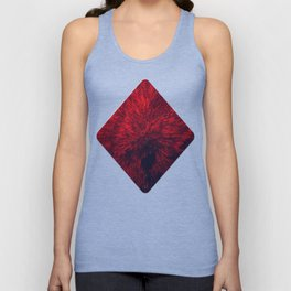 Bold Burst in Brilliant Red Unisex Tank Top