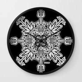 Mandala for Grandma Jo - Hiking in the Desert Wall Clock