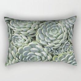 Pale Green Succulent Garden Rectangular Pillow
