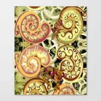 clockwork Canvas Prints featuring Clockwork. by Sylvie Heasman