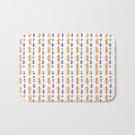 Circles, Arrows, and Cactuses Desert Pattern Bath Mat