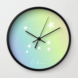 Pastel Libra Constellation Wall Clock