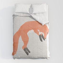 Pouncing Geometric Fox Comforters