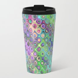 Abstract Pattern of Colorful Shapes  Travel Mug