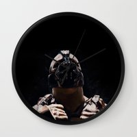 league Wall Clocks featuring League of Shadows by Chuck Jackson