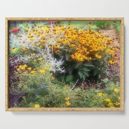 Southern English Flower Garden Serving Tray