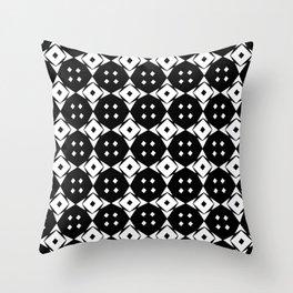 Optical pattern 79 black and white Throw Pillow