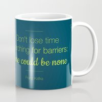 kafka Mugs featuring Don't lose time by Lucia Cillene