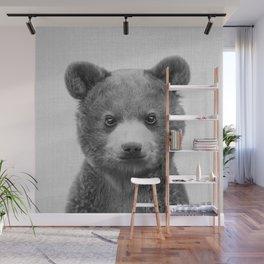 Baby Bear - Black & White Wall Mural