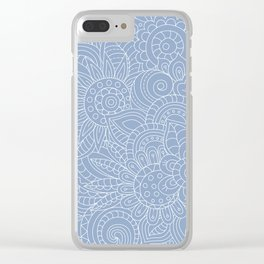 Background abstract flowers, doodleart, graphic-desing vector pattern. Clear iPhone Case