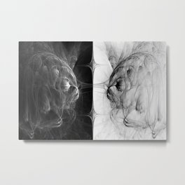 Reflection In Duplicity Metal Print