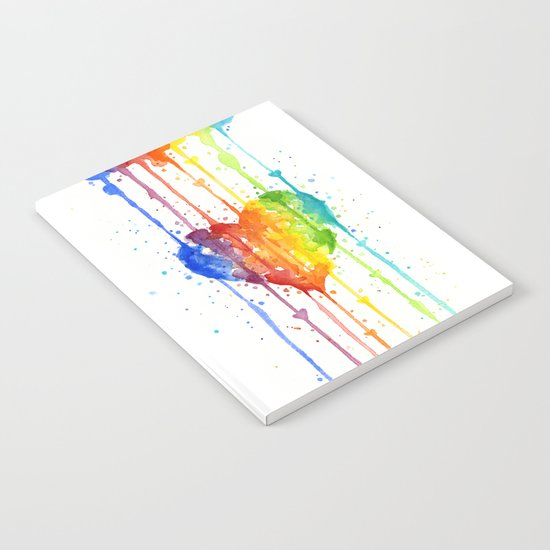 Heart Rainbow Watercolor | Love Wins Notebook