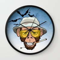 Monkey Business in Las Vegas Wall Clock