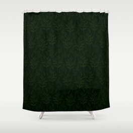 Twig Leaves - Green Forest Color Shower Curtain