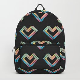 le coeur impossible (pattern) Backpack