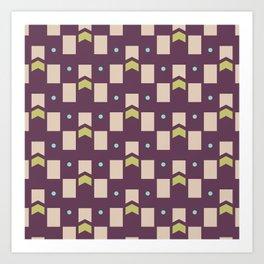 Art Deco Geometric Pattern 273 Art Print