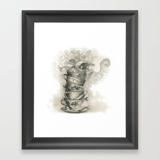 Tea bath Framed Art Print