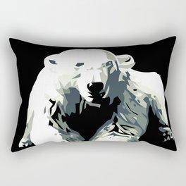 Vintage vector Zoo ad Basel polar bear Rectangular Pillow