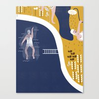 pool Canvas Prints featuring POOL by Michela Buttignol