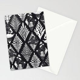 Hula Girls And Hula Men Hawaii Black White Monochrome Pattern Stationery Cards