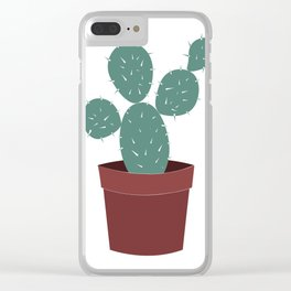 CACTUS POSTER Clear iPhone Case