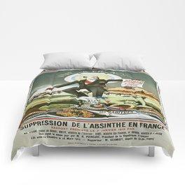 Vintage poster - La Finn de la Fee Verte Comforters