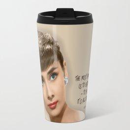 Movie star art - Audrey Hepburn Travel Mug