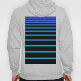 Turquoise to Blue Neon Hoody