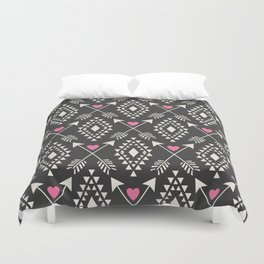 Tribal Aztec with Hearts & Arrows Duvet Cover