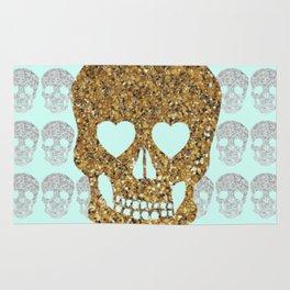 skulls & heartz;; Rug