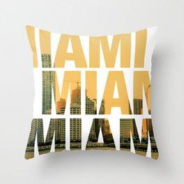 Miami Landscape Throw Pillow