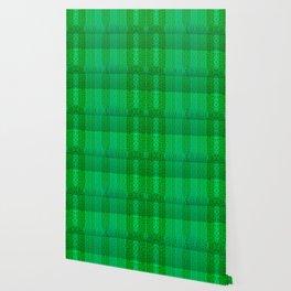 Greenish pattern of borders .. Wallpaper