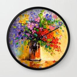 Bouquet of wildflowers Wall Clock