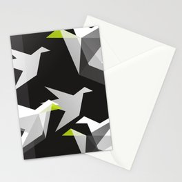 Black and White Paper Cranes Stationery Cards