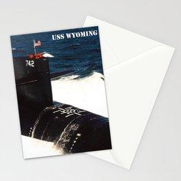 USS WYOMING (SSBN-742) Stationery Cards