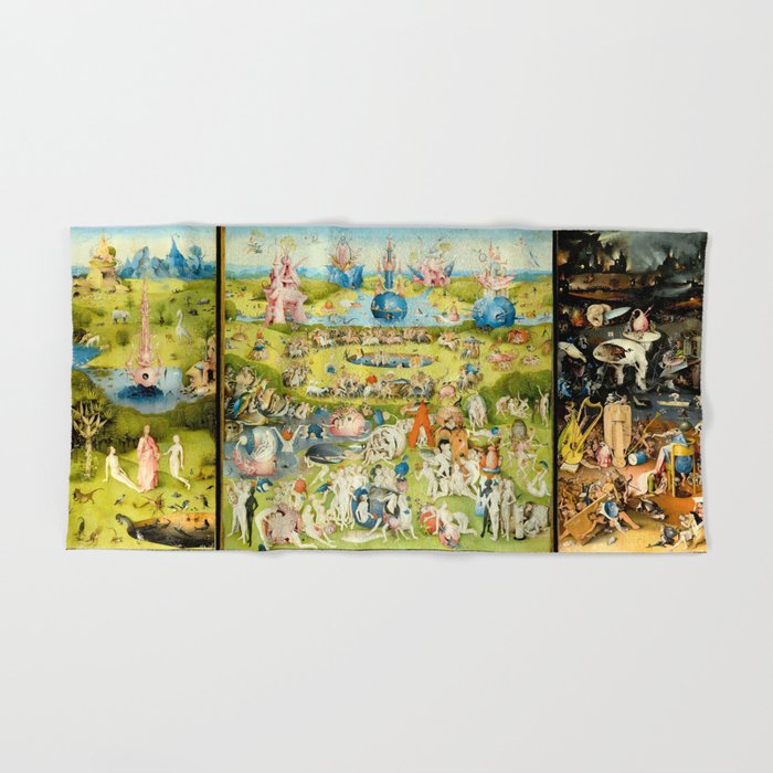 The Garden of Earthly Delights by Bosch Hand & Bath Towel