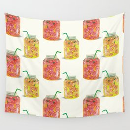 Smoothie glass jar pattern Wall Tapestry