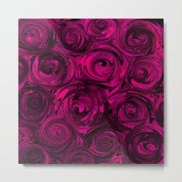 Berry Fuchsia Roses Metal Print
