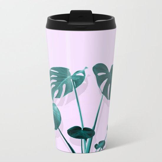 Monstera Palm on Musk Metal Travel Mug