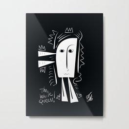 The White Queen Minimal Chess Art Graffiti  Metal Print