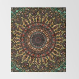 Trippy Fractal Kaleidoscope 2 Throw Blanket