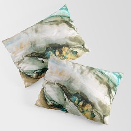 Teal Turquoise Geode Pillow Sham