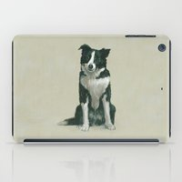 border collie iPad Cases featuring border collie by phil art guy